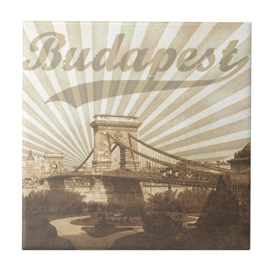 Budapest Chain Bridge Vintage
