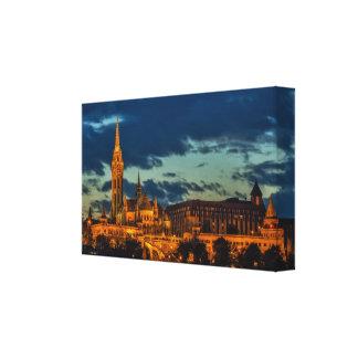 Budapest no impressão das canvas da noite