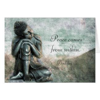 Buddha calmo com palavras da sabedoria cartão comemorativo