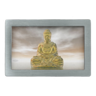 Buddha dourado - 3D rendem