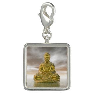 Buddha dourado - 3D rendem Pingente