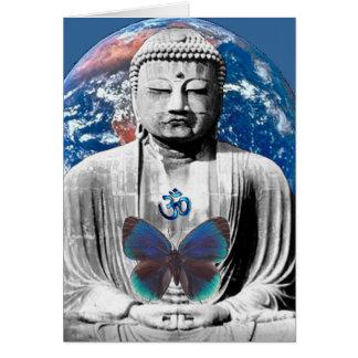 Buddha espera o cartão