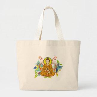 Buddha feliz sacola tote jumbo