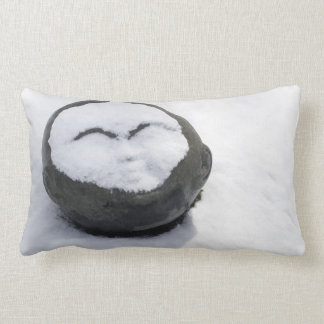 Buddha feliz com Facial da neve Travesseiros