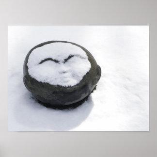 Buddha feliz com Facial da neve Poster