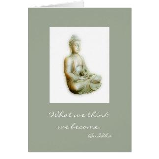 Buddha Meditating com palavras da sabedoria Cartão Comemorativo