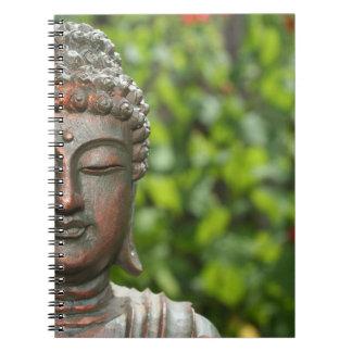 Buddha Meditating no caderno do jardim
