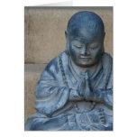 Buddha na oração cartão