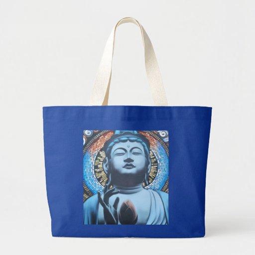 Buddha no azul bolsa para compras