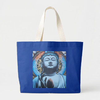 Buddha no azul sacola tote jumbo