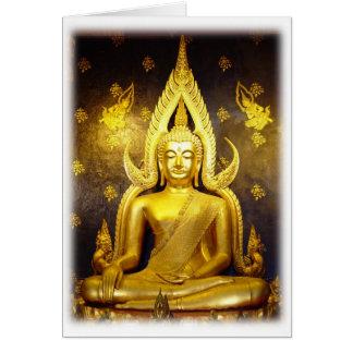 Buddha no cartão de nota do Yai-Vazio de Wat