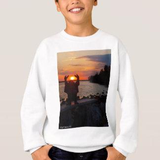 Buddha no por do sol agasalho