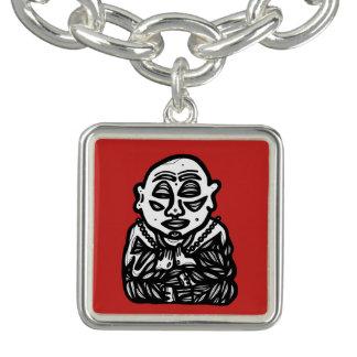 """""""Buddha Pray"""" o bracelete quadrado do encanto"""
