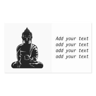 Buddha, preto no branco, buddhism, paz, zen, ioga, cartão de visita