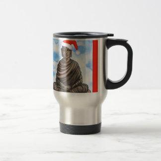 Budismo - Buddha - chapéu do Feliz Natal Caneca Térmica
