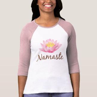 Budista do OM da ioga da flor de Namaste Lotus Camiseta