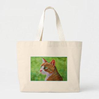 Buerller o gato de gato malhado feroz bolsas de lona