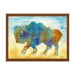 Búfalo abstrato impressão em canvas