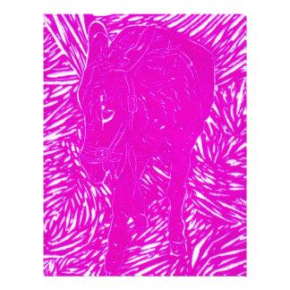 Buford cor-de-rosa fluorescente papel de carta