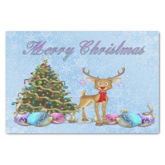 Bulbos do Natal da árvore de Natal da rena Papel De Seda