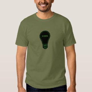 Bulbos verdes para veterinários camisetas