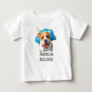 buldogue americano camiseta para bebê