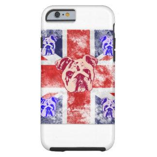 Buldogue britânico capa tough para iPhone 6