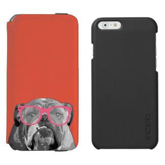 Buldogue com capa de telefone engraçada bonito dos capa carteira incipio watson™ para iPhone 6