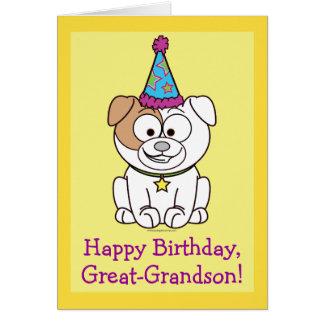 Buldogue do feliz aniversario: Excelente - neto Cartão Comemorativo