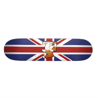 Buldogue do inglês dos desenhos animados de Union  Skate