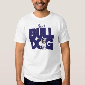 Buldogue francês, azul marinho camiseta
