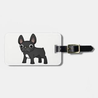 Buldogue francês bonito tags de mala