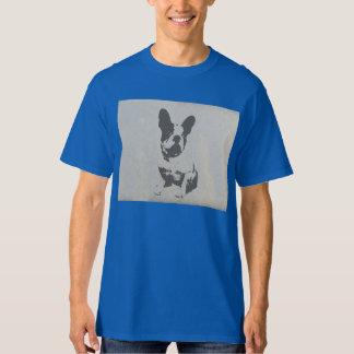 buldogue francês do impressão na textura do camiseta