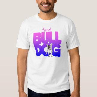 Buldogue francês, pink2blue t-shirts