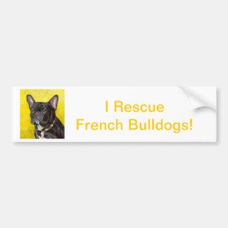 Buldogue francês preto adesivo para carro