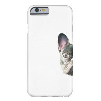 """Buldogue francês """"que espreita"""" o caso do capa barely there para iPhone 6"""
