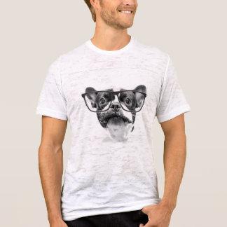 Buldogue francês respeitável com vidros camiseta
