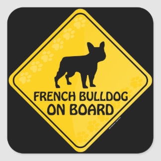 Buldogue francês Xing Adesivo Quadrado