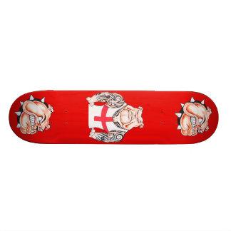 Buldogue inglês com tatuagens tribais shape de skate 18,4cm