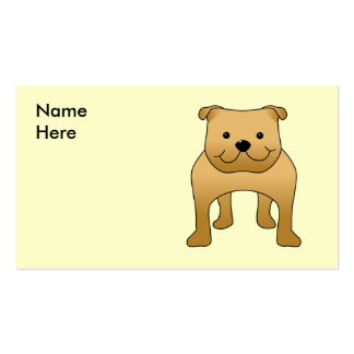 Buldogue vermelho. Desenhos animados do cão Modelo Cartoes De Visitas