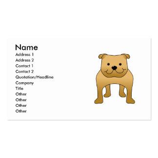 Buldogue vermelho. Desenhos animados do cão Modelo De Cartões De Visita
