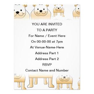 Buldogues da jovem corça convites personalizados