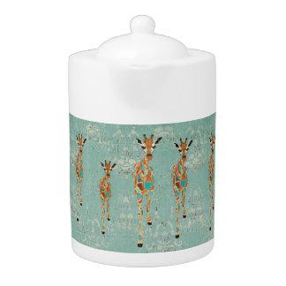 Bule ambarino Azure dos girafas