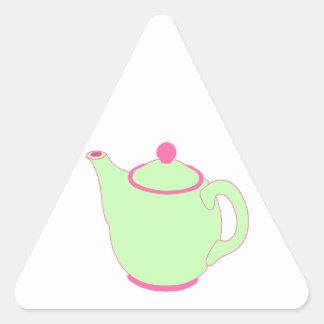Bule cor-de-rosa e verde adesivo triângulo