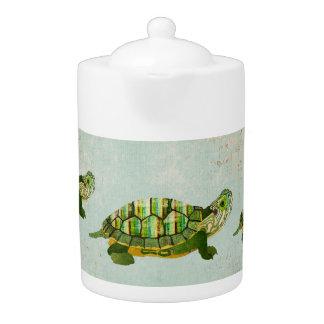 Bule das tartarugas do jade