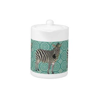 Bule de água-marinha da zebra