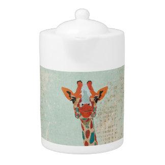 Bule espreitando ambarino do girafa