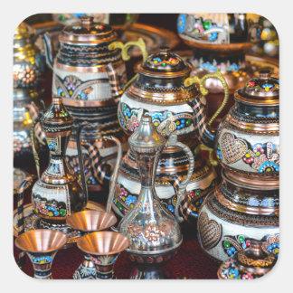 Bules turcos para a venda em Istambul Turquia Adesivo Quadrado