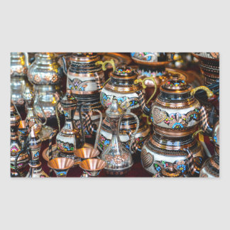Bules turcos para a venda em Istambul Turquia Adesivo Retangular