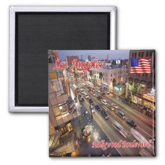 Bulevar dos E.U. EUA Los Angeles Hollywood Ímã Quadrado